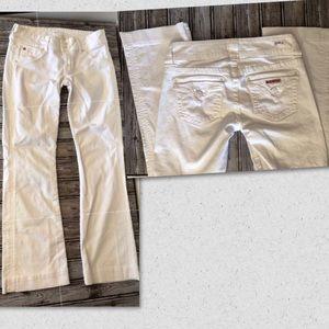 Hudson Signature Supermodel Boot Cut White Jean 27